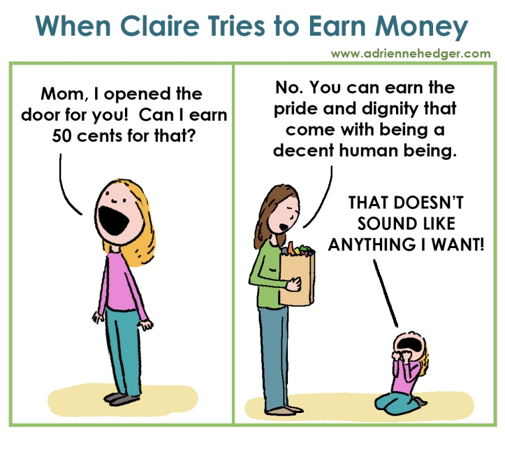 Claire earn 50 cents