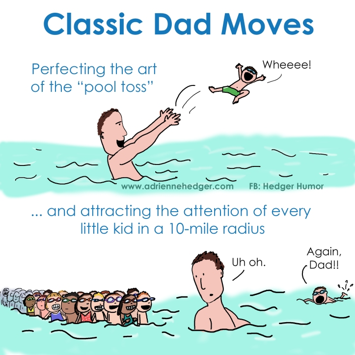 Classic Dad Moves Pool Toss Updated