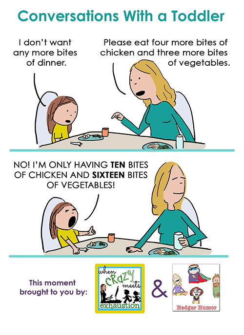 Conversation With Toddler - Bites At Dinner 500