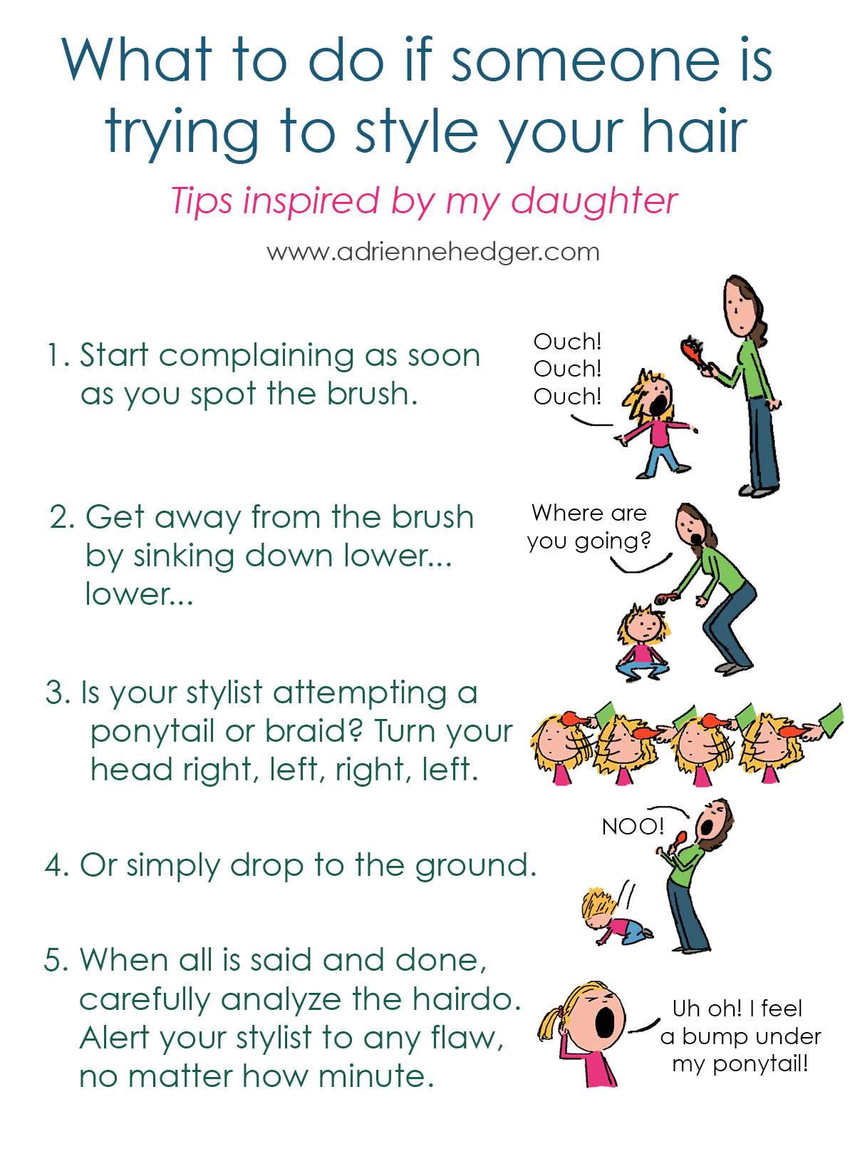 Hairstyling Tips According to My Daughter 1200