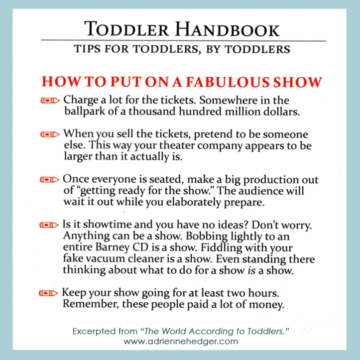 How to put on a fabulous show