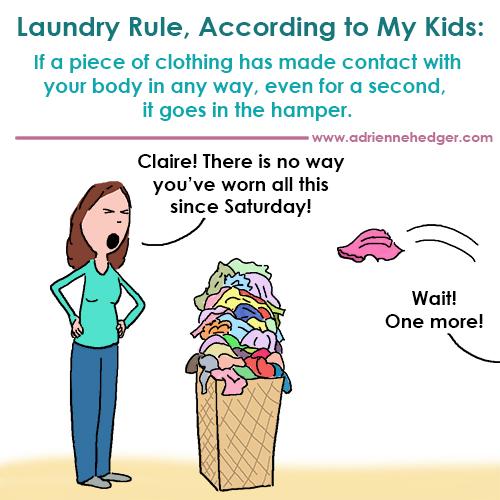 Laundry Rule Hamper Kids 500