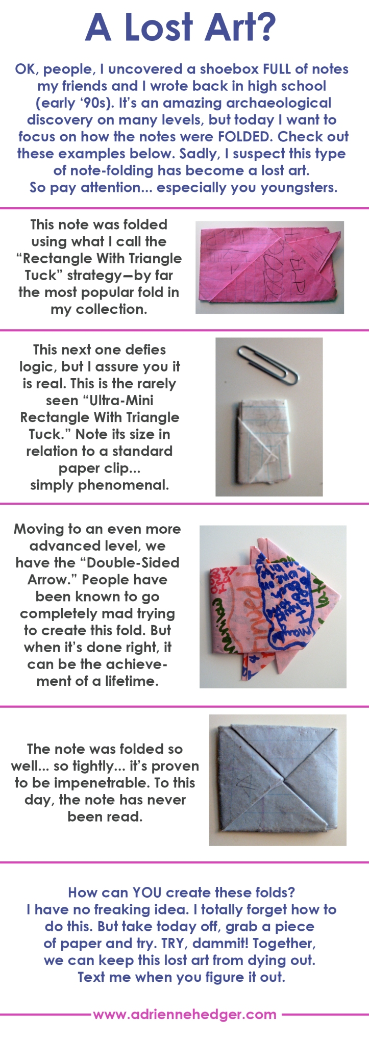 The Lost Art of Folding Notes