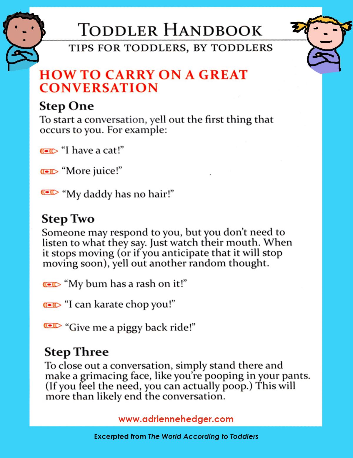 Toddler Handbook - Great Conversation