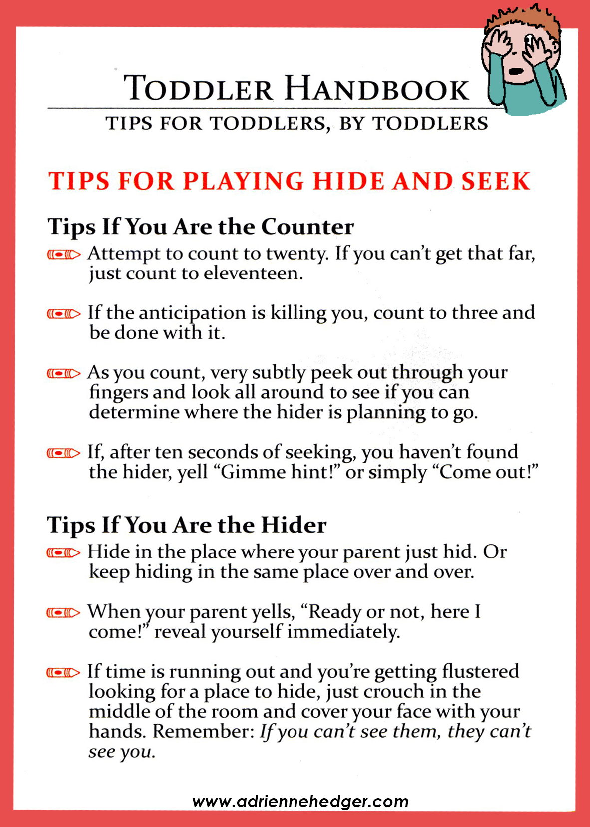 Toddler Handbook Hide and Seek