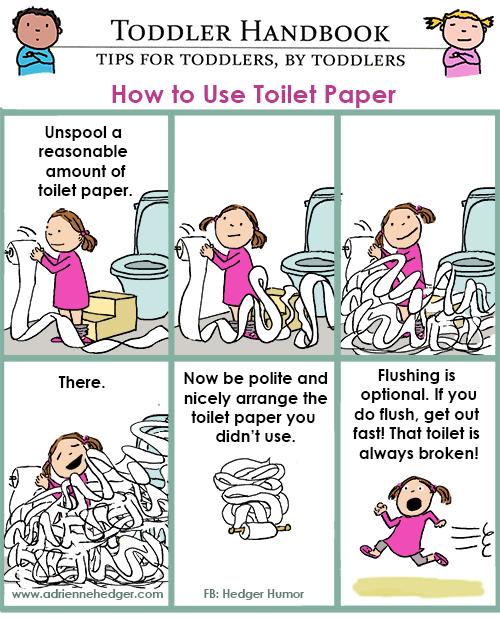 Toddler toilet paper 500
