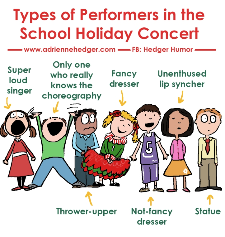 Types of Kids at Holiday Concerts