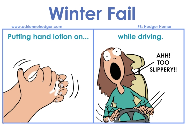 winter fail - hand lotion