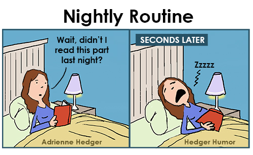 Nightly routine reading book 500