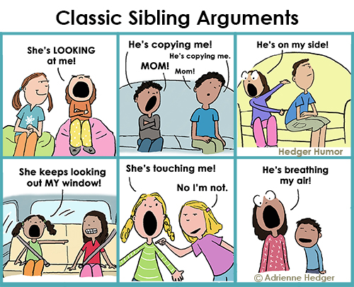 Classic Sibling Arguments - Updated six panel 500