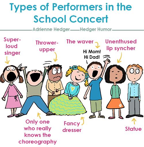 Types of Kids in School Concert 500