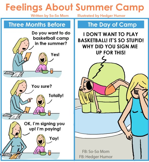 Summer Camp Regret So-So Mom - UPDATED