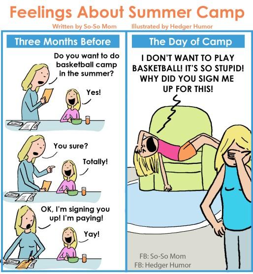 Summer Camp Regret So-So Mom - UPDATED